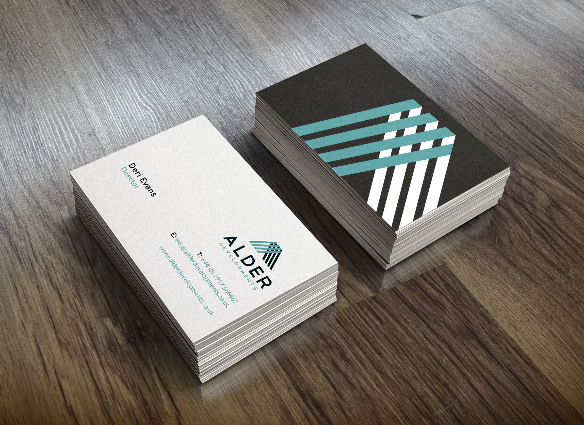construction logo design alder developments