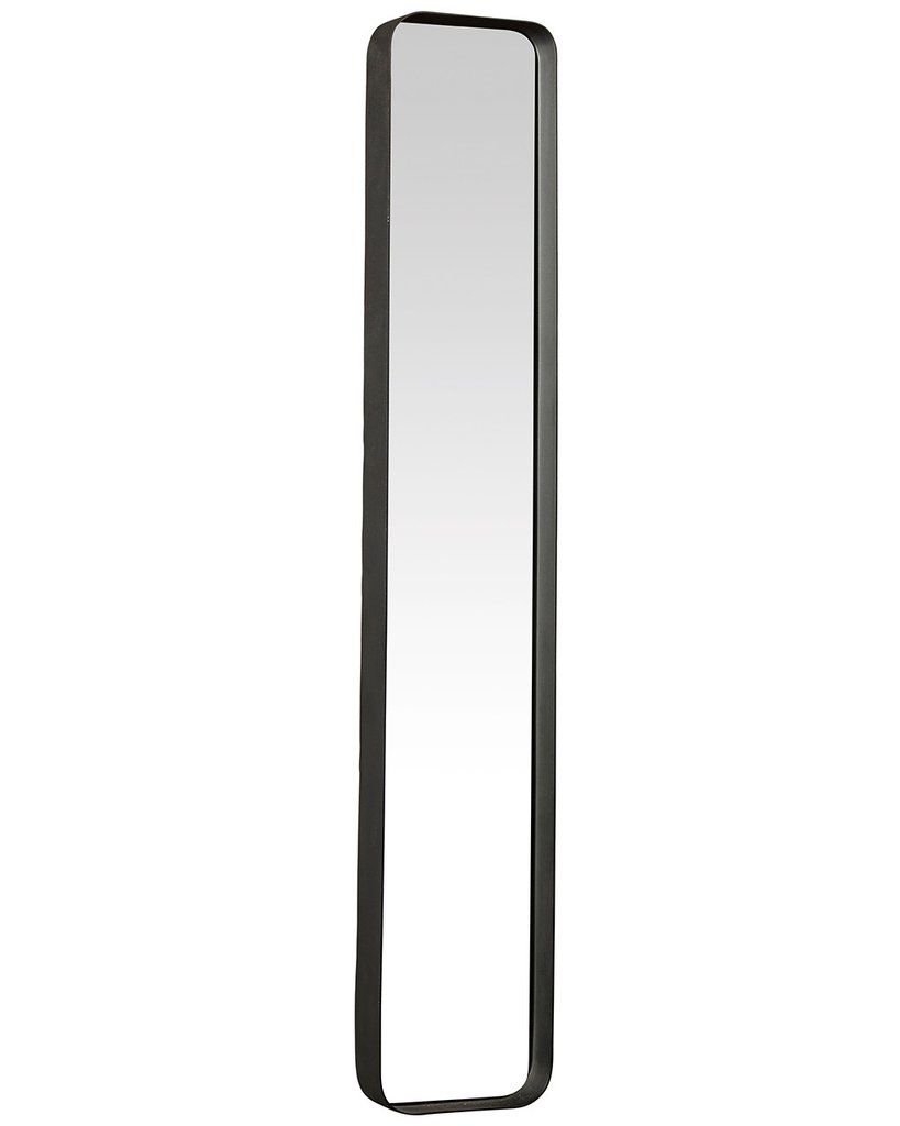 Kelly rectangular wall mirror black metal frame hcm
