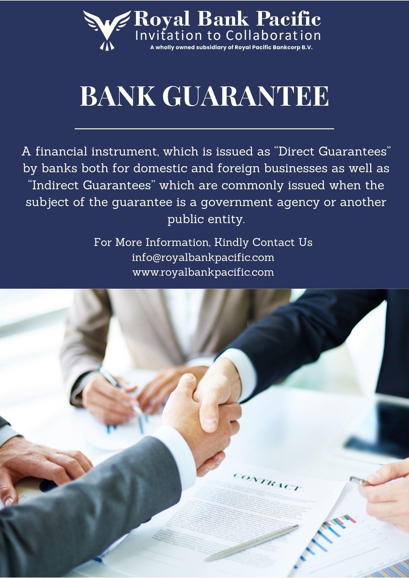 Bank Guarantee Royal Bank Pacific Royal Bank Financial Instrument Private Banking