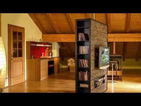 Bei Diesem Projekt Haben Wir Eine Drehbare Medienwand Mit Einer  Oberflächenbeschichtung Aus Baumrinde In Der Hauseigenen Schreinerei /  Tischlerei Gefertigt.