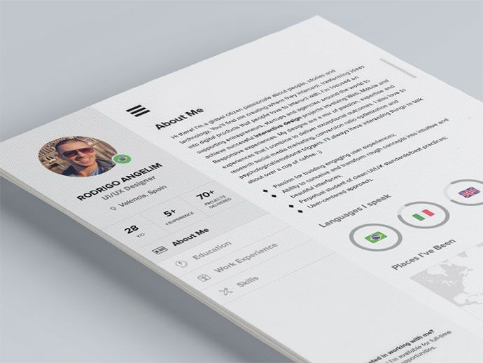 28 Free CV Resume Templates ( HTML PSD \ InDesign ) Cv resume - psd resume templates