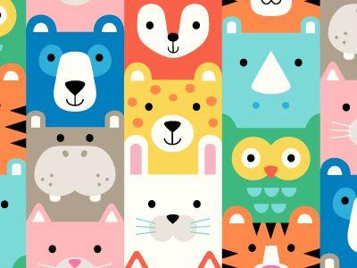 Animal Squares Pattern