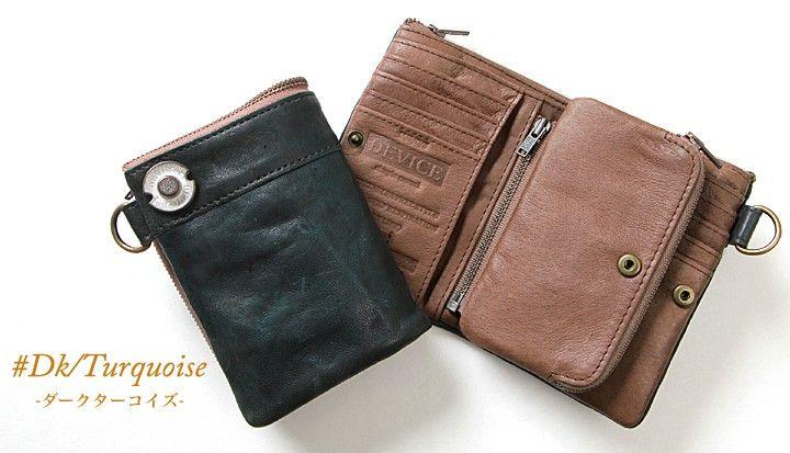 aba2313149cf DEVICE・デバイス:vintage・本革/2つ折り財布/レザーウォレット ブギー ...