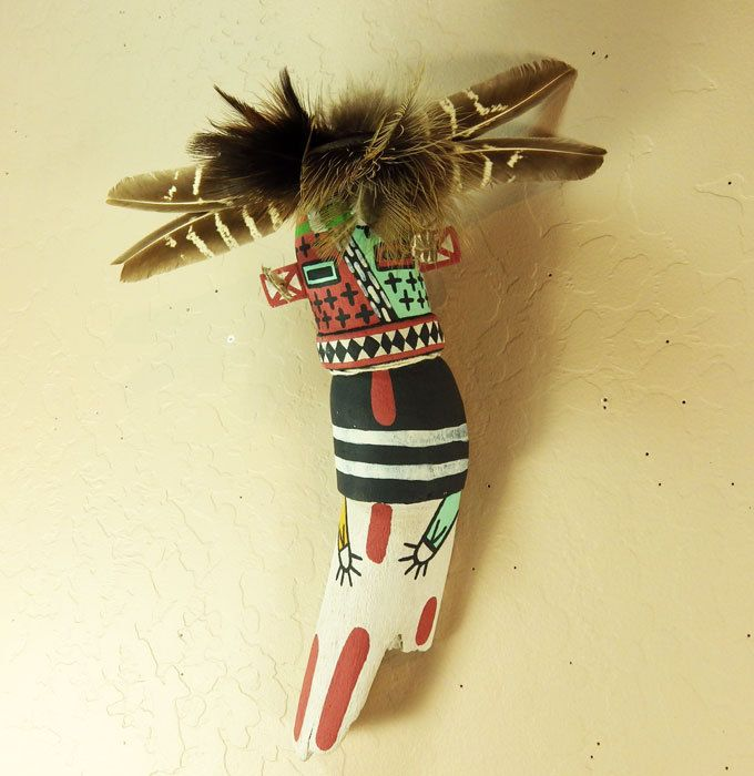 Hilili Kachina is traditionally hand carved of dried cottonwood root by Hopi artist Kevin Chavarria of First Mesa.