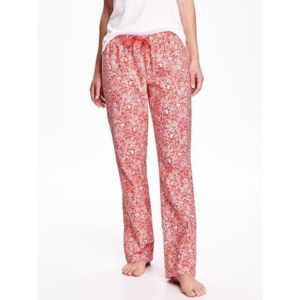 33b70c4a5e7bcd Old Navy Printed Flannel PJ Bottoms ($17) ❤ liked on Polyvore featuring  intimates,