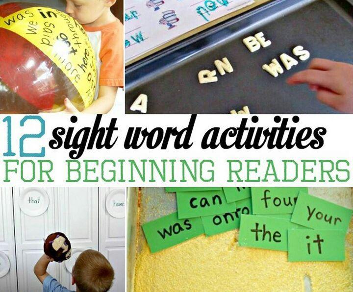 12 sight word activities for begginning readers