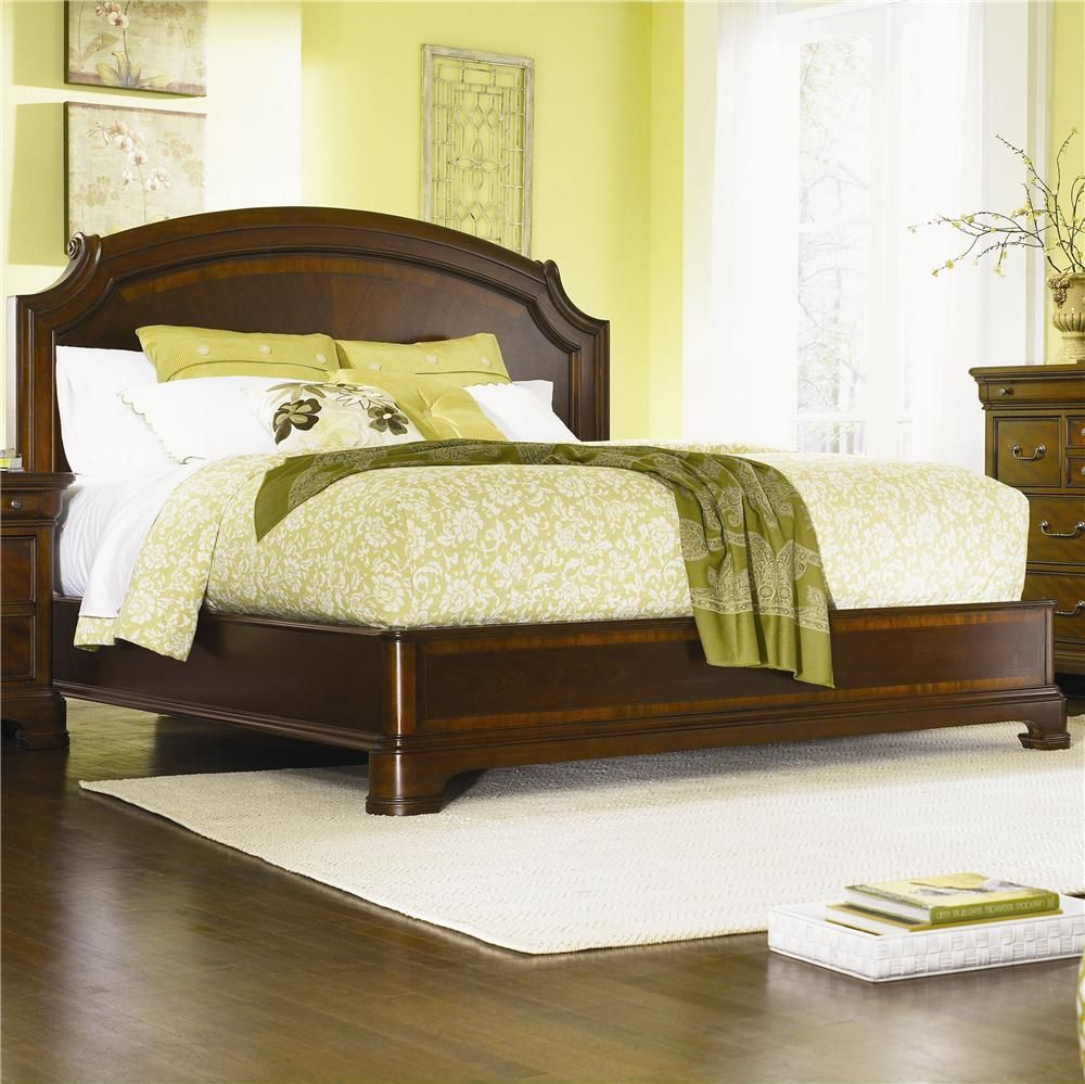 Evolution Queen Size Scroll Top Platform Bed By Legacy Classic At