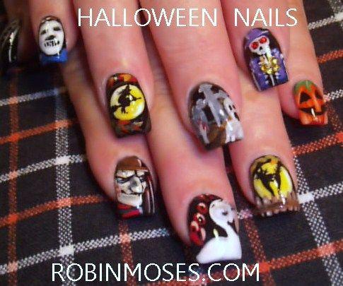 Nail Art By Robin Moses Nail Art Gallery Halloween Nail Gallery 1