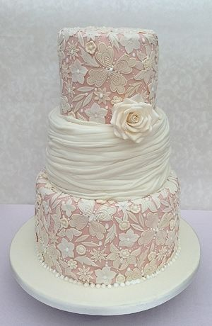Vintage lace style wedding cake Cakespiration Pinterest