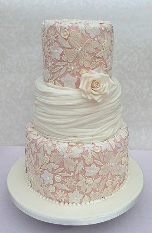Vintage Lace Style Wedding Cake Cakespiration Pinterest - Wedding Cakes Vintage