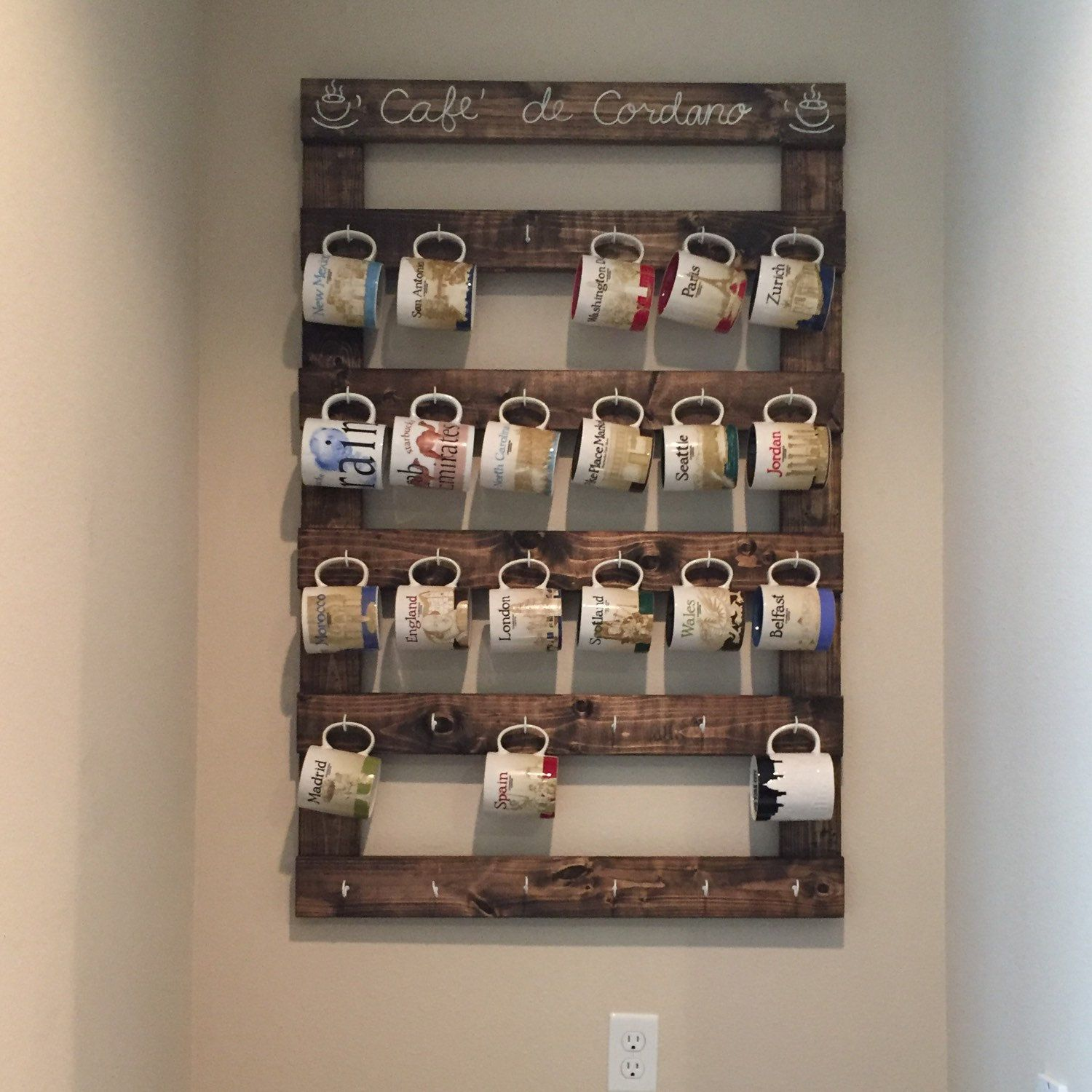Large Custom Coffee Mug Rack Photo A Wonderful Customer Shared Displayed In  There Home With The