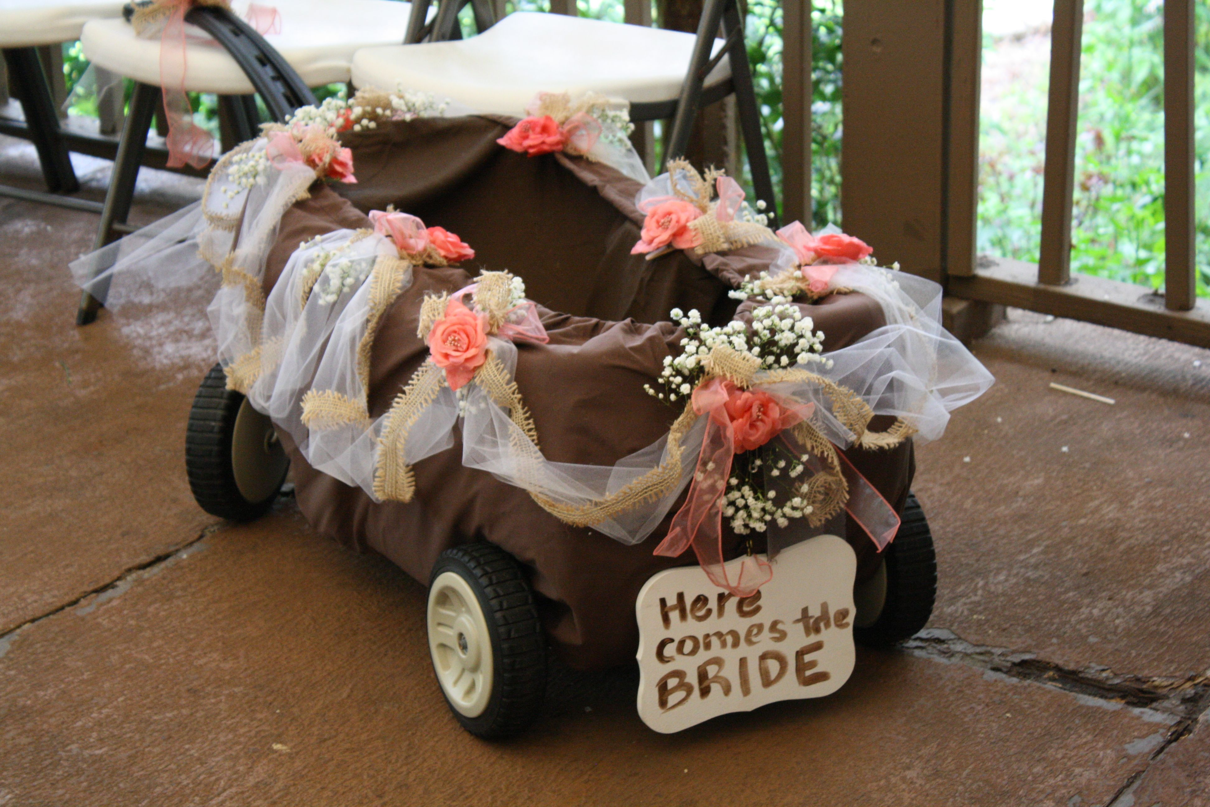 Pin By Gift Delight On Wedding Wonderful Wagon For Wedding Tiffany Wedding Here Comes The Bride