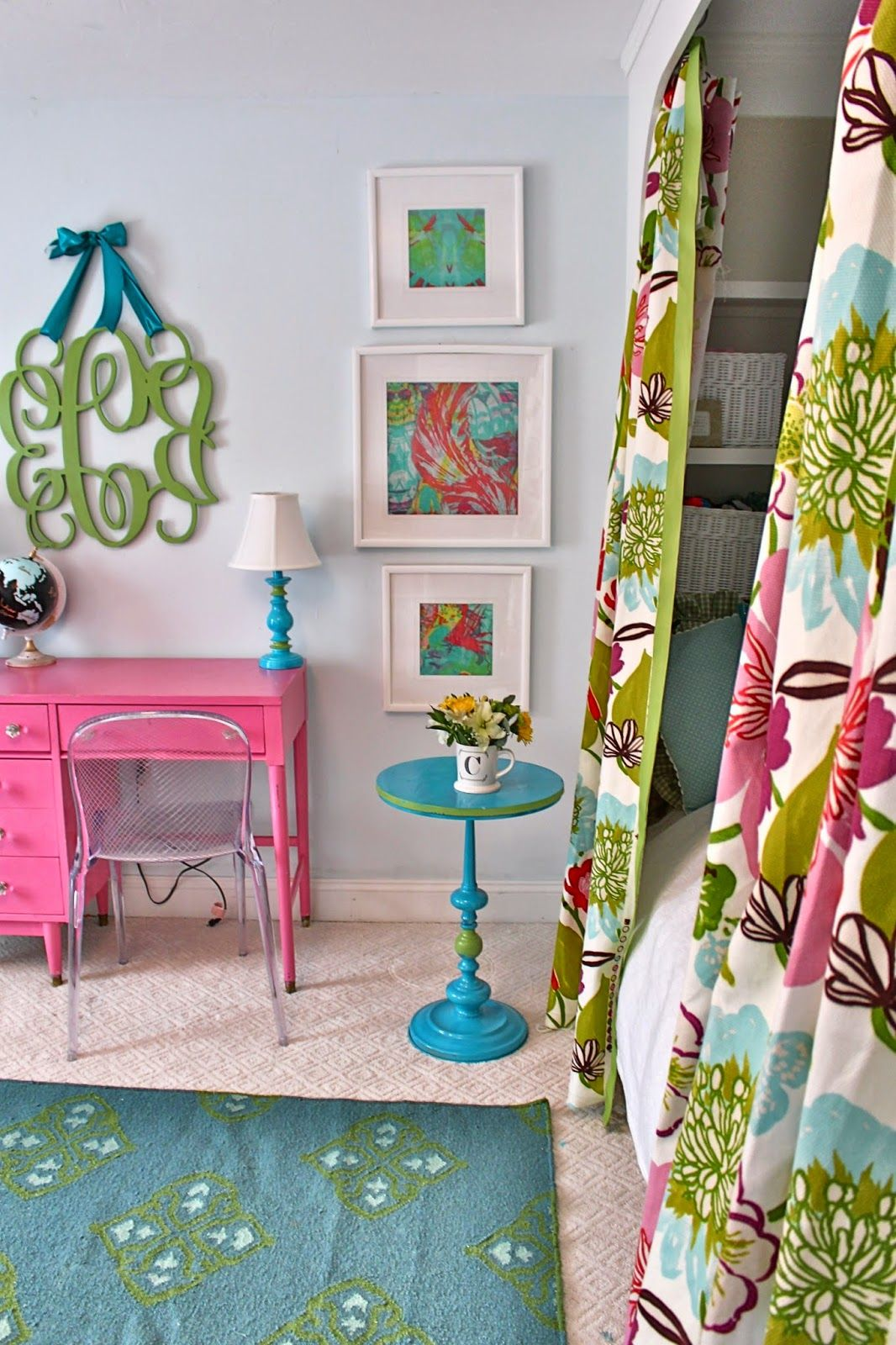 Tween Girls Bedroom Reveal In Pink Blue And Floral With