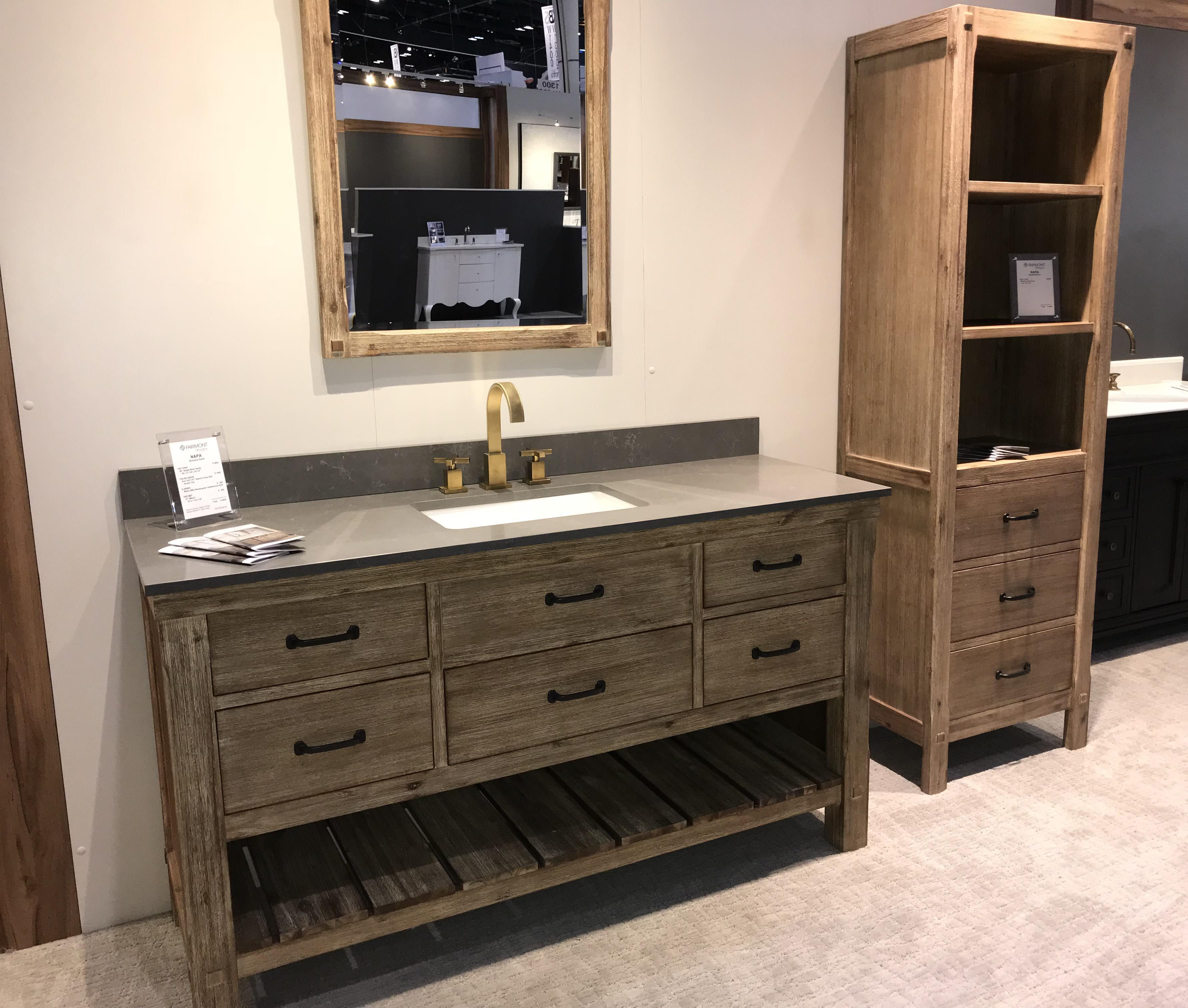 Napa 60 Single Bowl Vanity With Linen Tower Fdbath Kbis2018