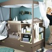 Love The Cribchanging Tablestorage Unitcanopy All In One Kids