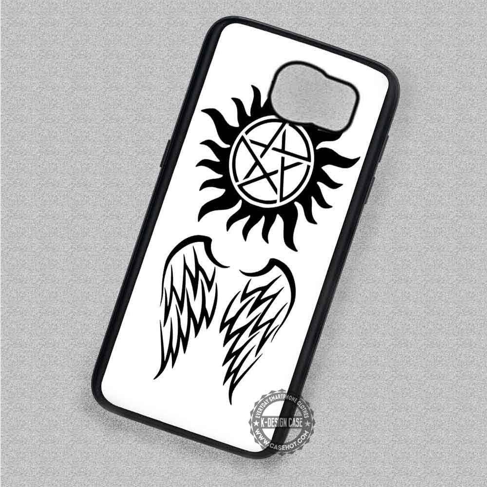 Black Symbol and Wings Anti Possession Supernatural