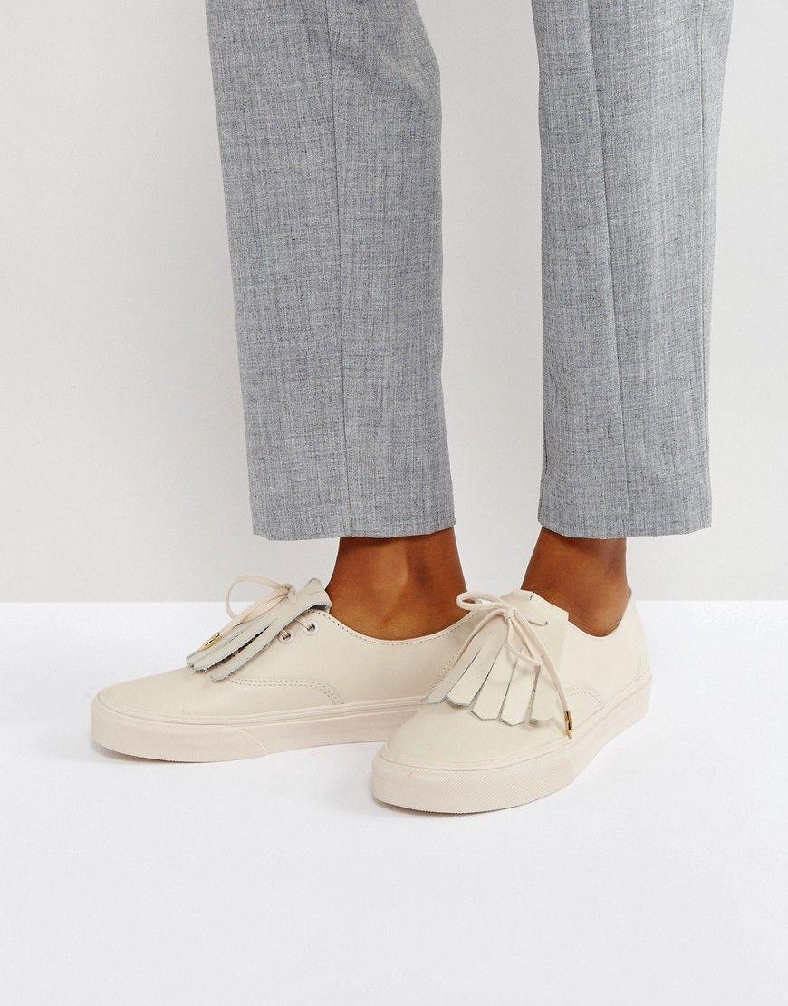 Haz clic para ver los detalles. Envíos gratis a toda España. Zapatillas de  deporte de cuero en rosa claro con flecos de Vans Authentic  ... b0c85b37c2b