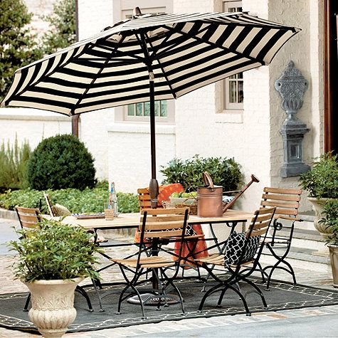 Our Auto Tilt Umbrella Turns An Outdoor Table Into A Shaded Outdoor Haven.  The Base