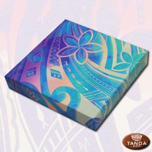Colorful Siapo On Canvas Polynesian Art Hawaiian Art Hawaii Art