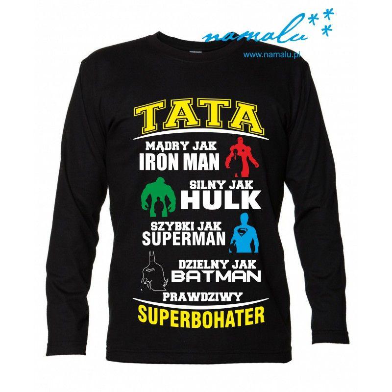 Tata Superbohater Tshirt Logo T Shirt Sweatshirts