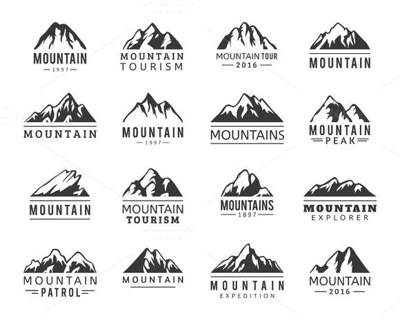 Mountain Vector Icons Set By Vectorstockstoker On @creativemarket