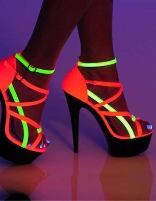 476246796fc Neon Fantasy Shoes - $69.00 | SKY HIGH HEELS | Neon shoes, Neon ...