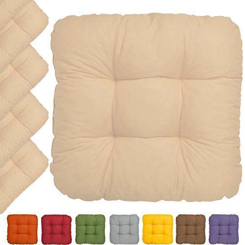 beautissu® set da 6 cuscini lisa 40x40x8cm per sedie e pa https