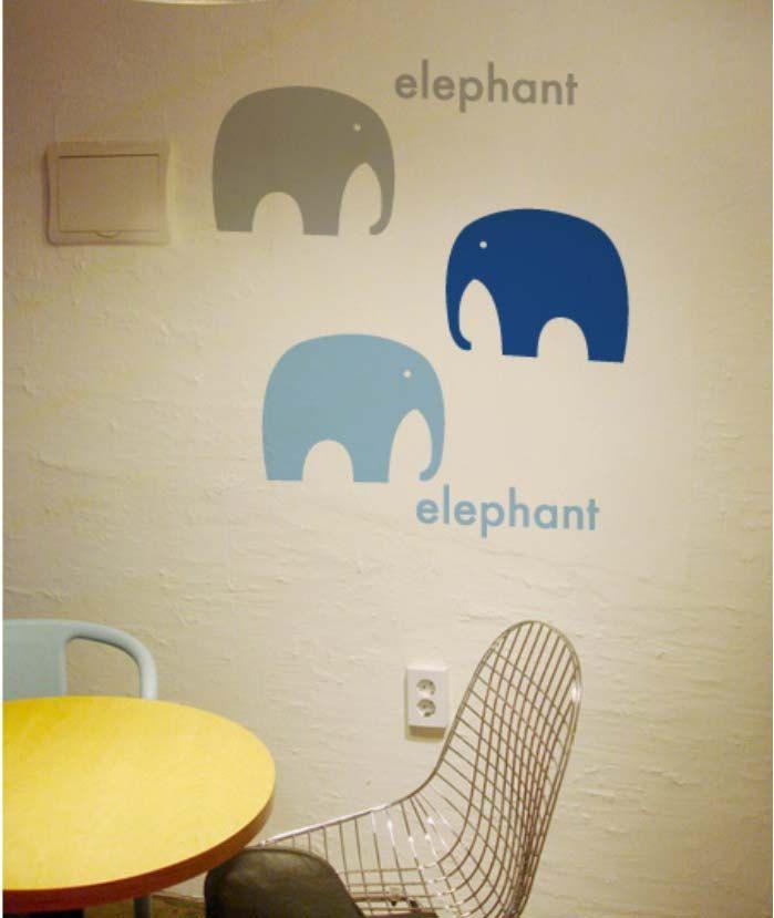 FREE SHIPPING elephants wall quote decor  Vinyl kids wall sticker wall art mural 263. $17.99, via Etsy.