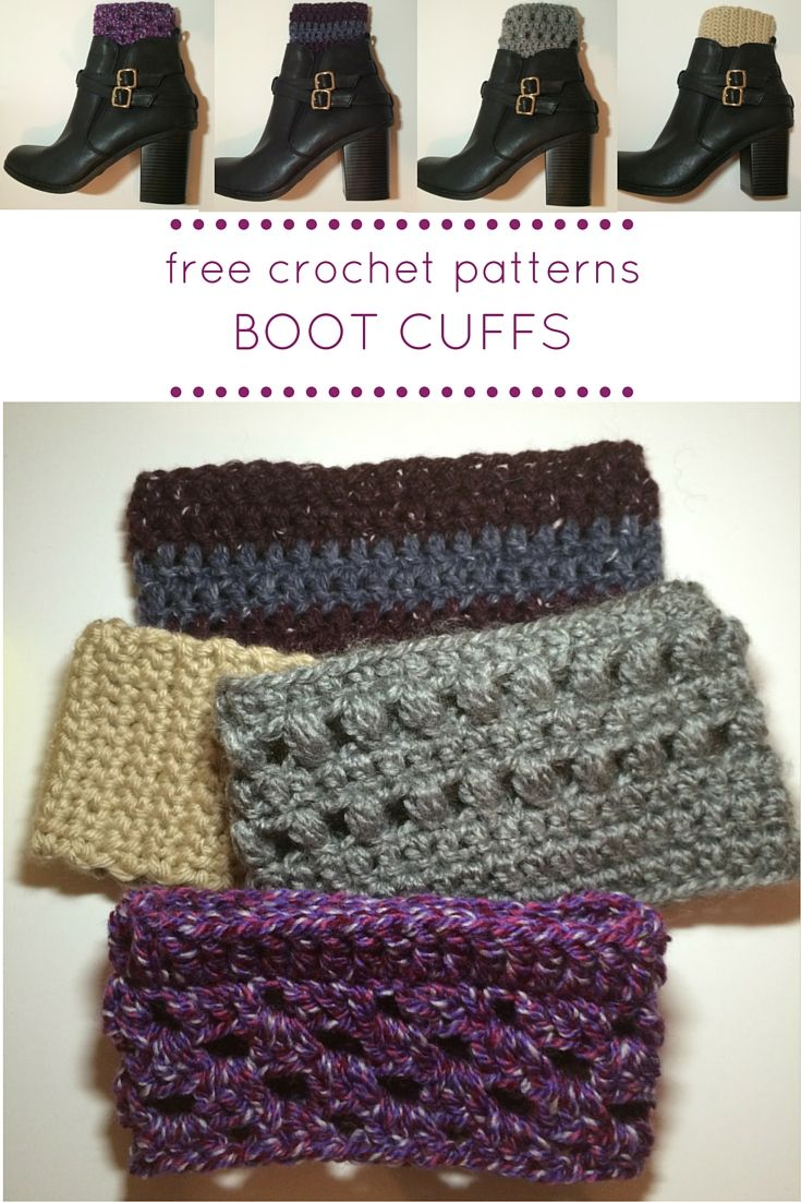 How to Crochet Boot Cuffs | Crochet boot cuffs, Crochet boots and Yarns