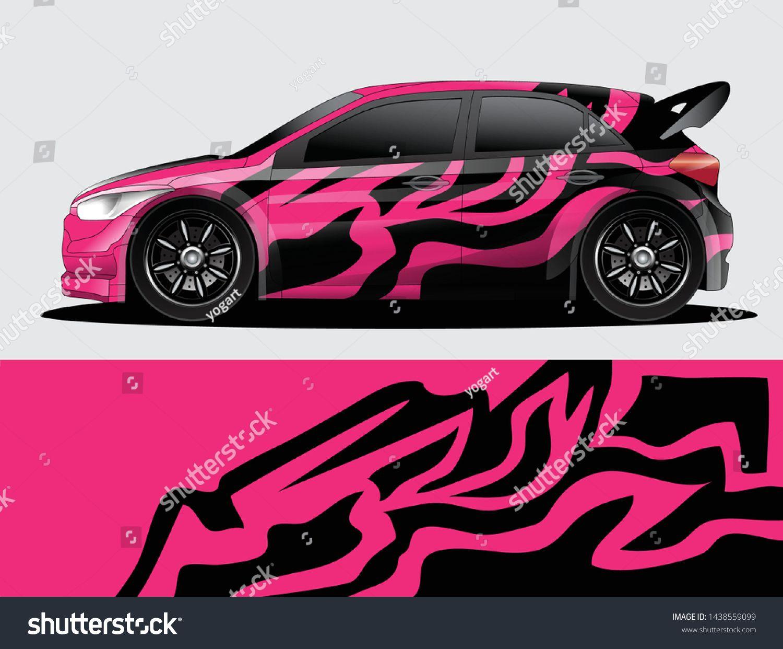Rally Car Decal Graphic Wrap Vector Abstract Background Rally Car Racing Car Design Car [ 1242 x 1500 Pixel ]