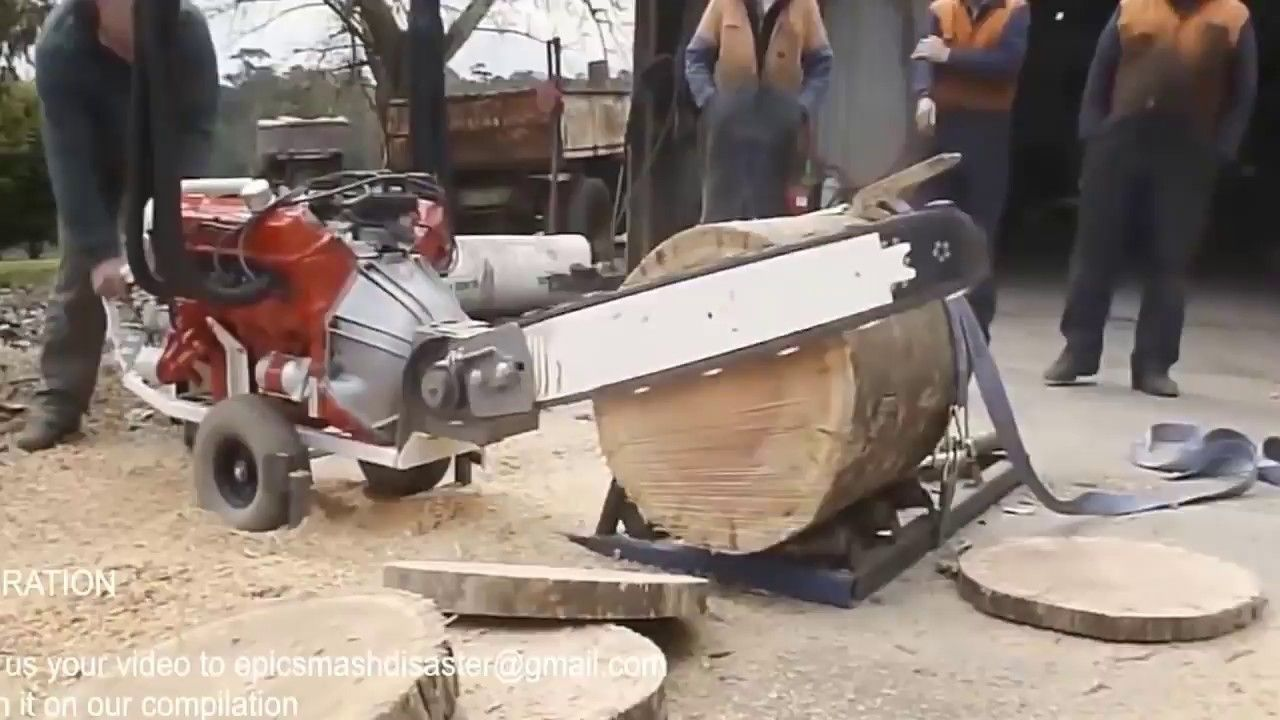 Large Logs And Huge Saw Blades Have You Seen It Before