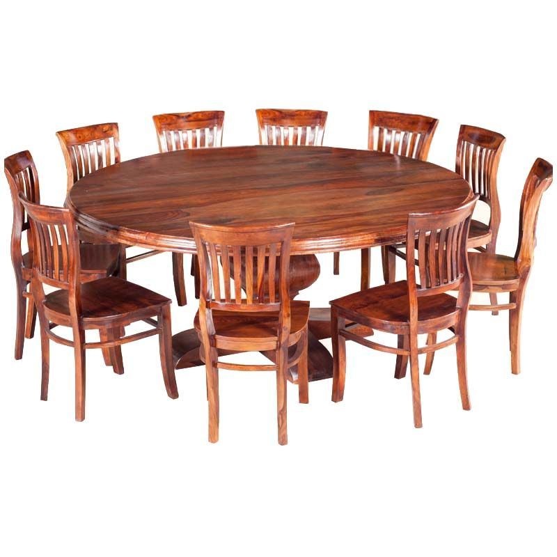 Sierra Nevada Rustic Solid Wood Large Round Dining Table For 10 People Large Round Dining Table Round Dining Room Round Dining Room Table