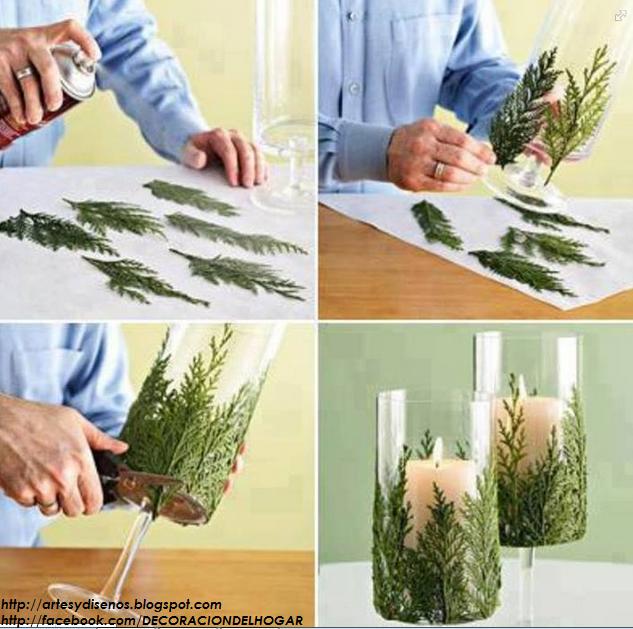 diy centro de mesa para navidad con hojas diseo y decoracin del hogar design