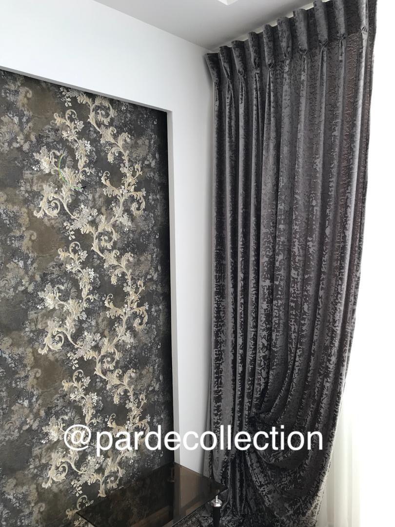 كاغذ ديواري مخمل پتينه Curtains Home Decor Decor