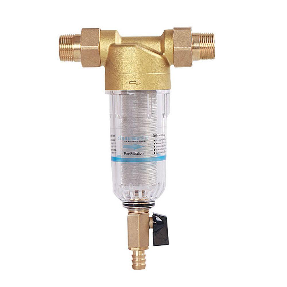 1 2 بوصة 3 4 بوصة 1 بوصة أنابيب النحاس منفذ نظافة فلتر منزل المنزلية تصفية المياه تنقية المياه المركزية الترس House Water Filter Water Filter Water Purifier