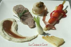 Filet mignon de Porc au Miel et Romarin, Jeu de légumes de saison