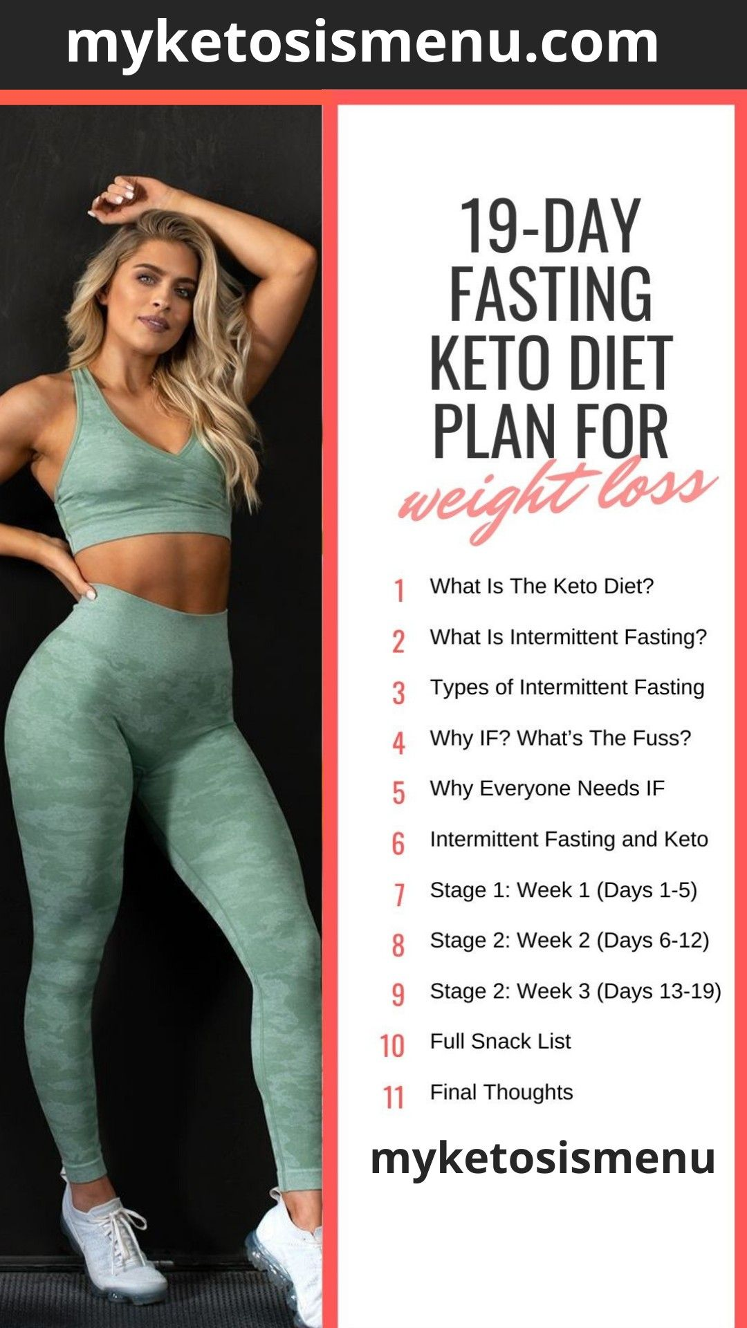 19-Day Keto Diet Meal Plan and Menu for Beginners (Fast Fat Loss!) #ketomealplan