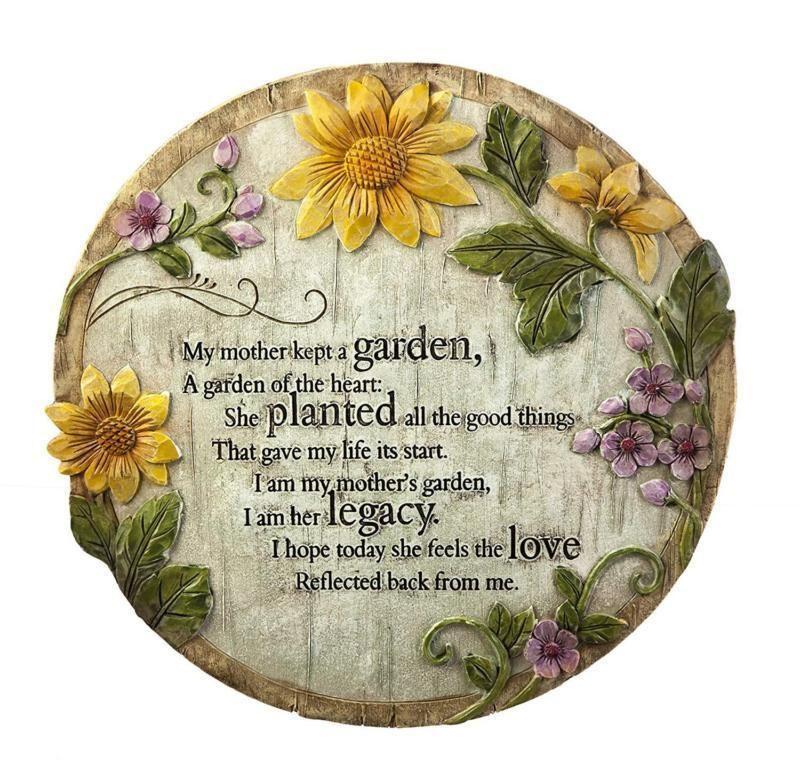Garden memorial rock mother mom plaque keepsake grandma