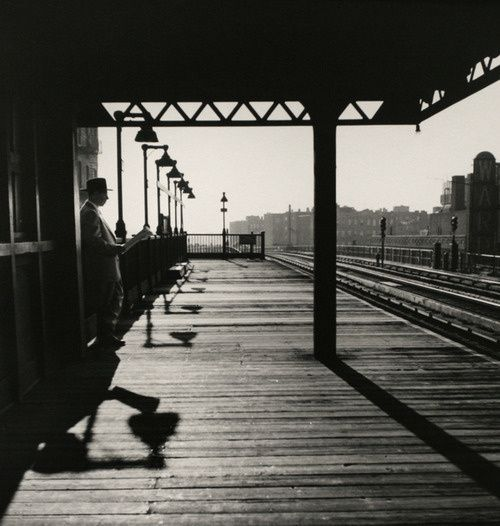 Luzfosca Larry Silverbronx Subway Station 1950from Larry Silver Early Work New York Train Shadows Whit Black And White Photography Bronx City Photography