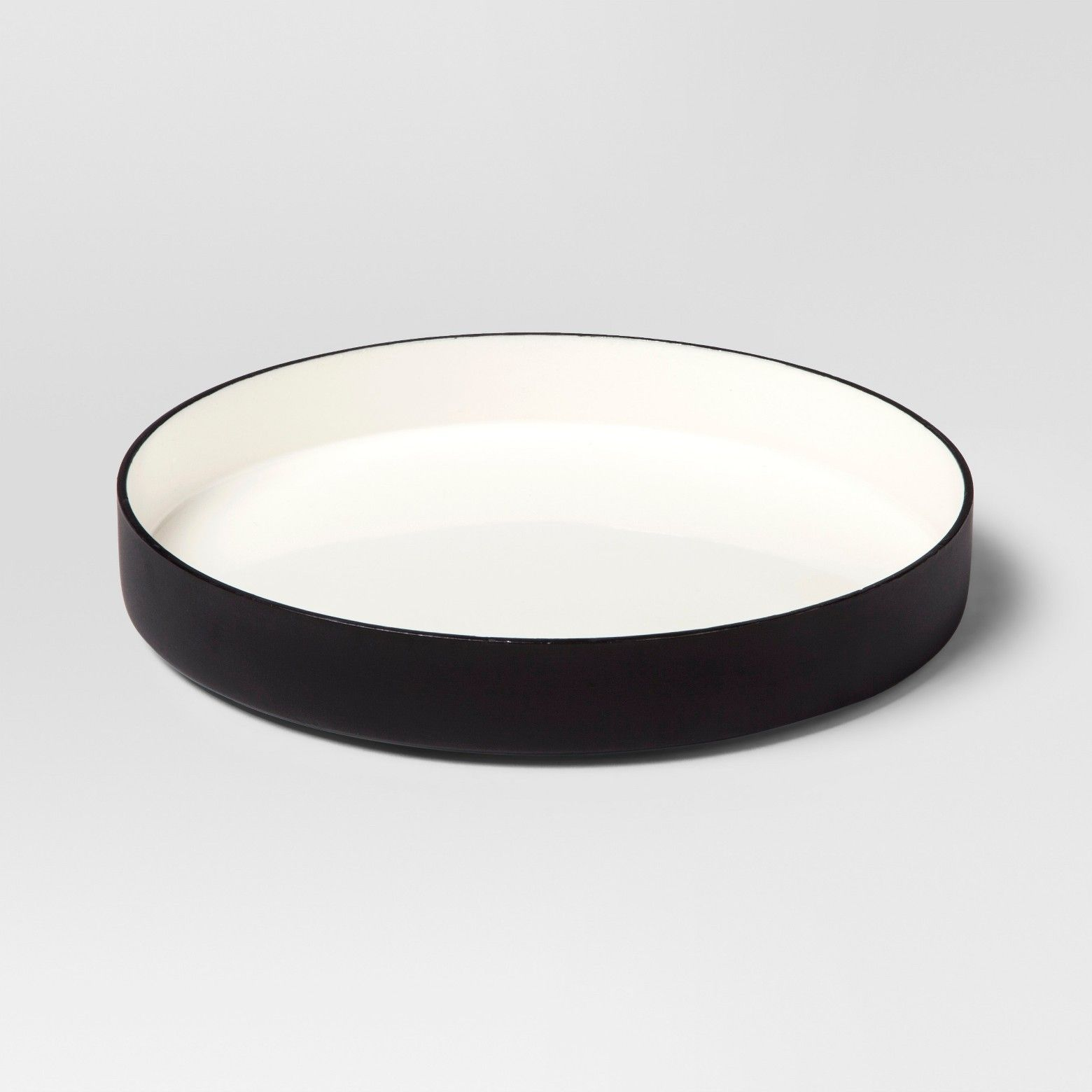 Black Decorative Tray Amusing Enamel Tray Small  Whiteblack  Project 62  Small Tray Black Design Inspiration