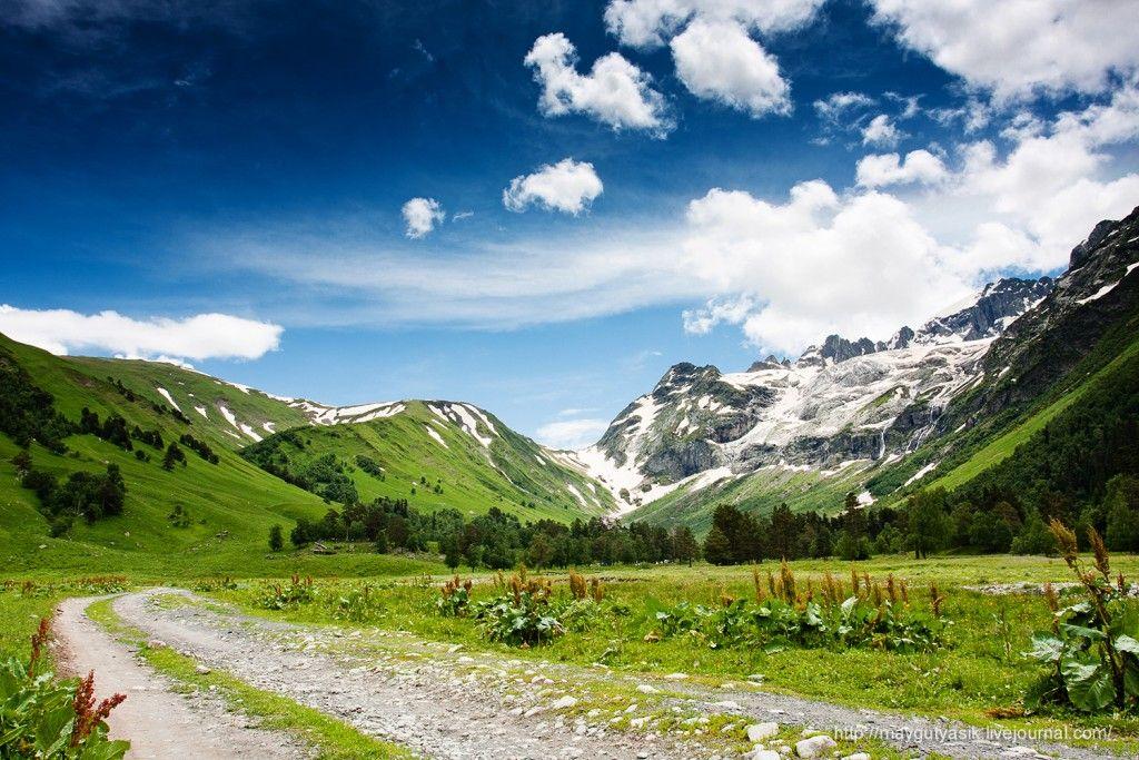 Искусстве, картинка горы кавказа