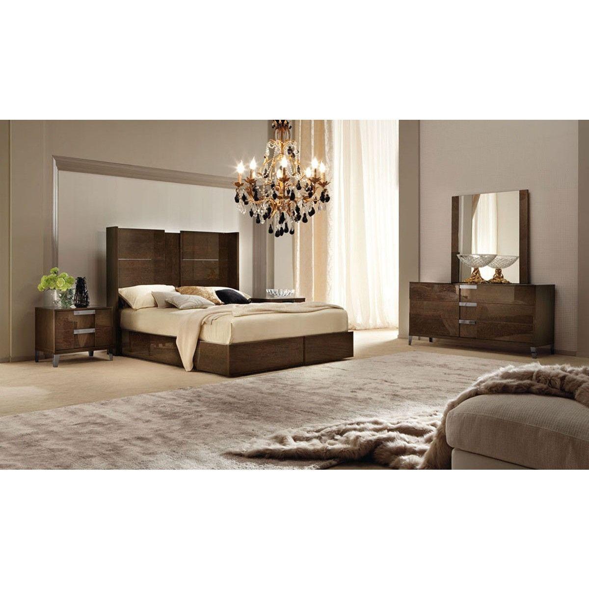 Alf Soprano Italian Modern Bedroom Set With Storage Drawer Prepossessing Bedroom Sets With Storage 2018