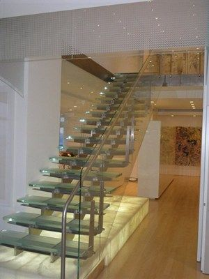 Stainless Steel And Glass Stairs Designer Grade Modern Futuristic Custom Metals Inc Madison Wi Glass Stairs Stairs Custom Metal
