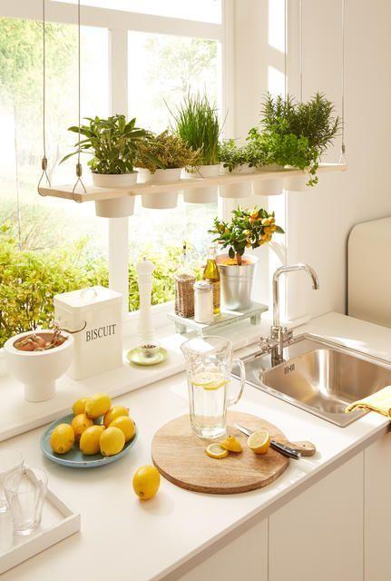 Simple DIY-Idee Dekoratives Kräuterregal zum Selberbauen Garden - küche landhausstil ikea