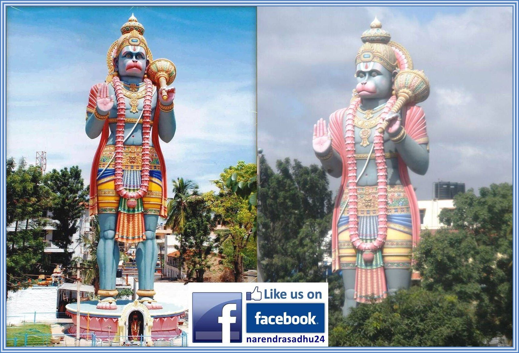102 Feet Height Sky Touch Super Colorful Statue Of Lord Hanuman Is