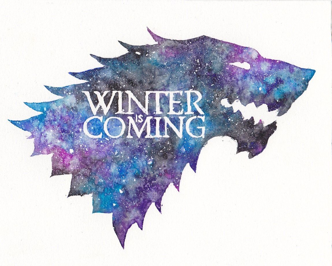 Game with watercolor - Game Of Thrones Painting Watercolor Stark Sigil Winter Is Coming Symbol Print Galaxy Painting