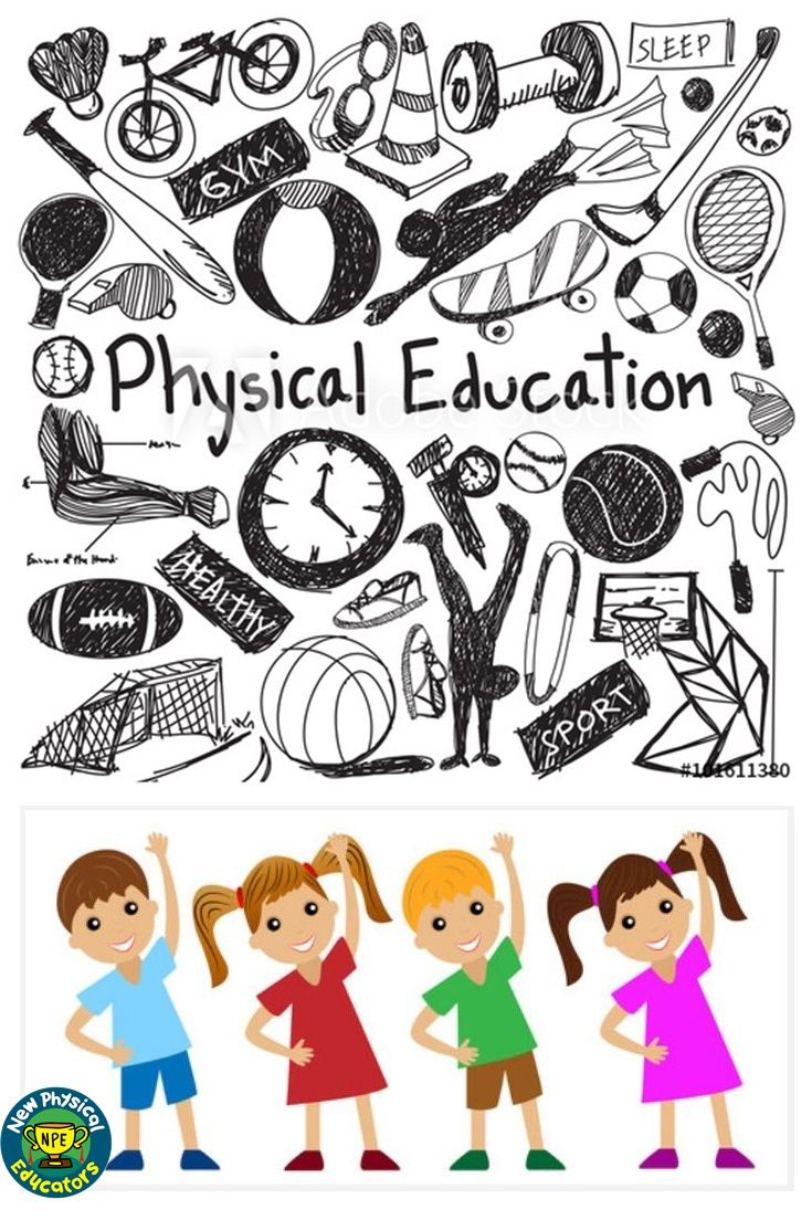 f11.22 Physical education exercise gym doodle icon and