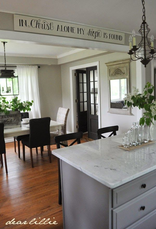 Jason S Kitchen And Dining Room And Our In Christ Alone Oversized Signs By Dear Lillie Home Home Kitchens Sweet Home Jason kitchen and dining room