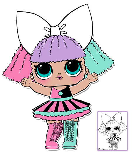 Lol Surprise Doll Coloring Pages Page 7 Color Your