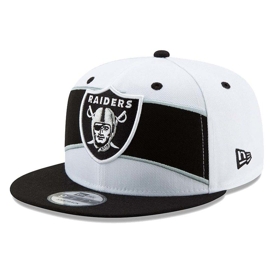 buy popular 4c5a1 8bb40 Men s Oakland Raiders New Era White Black Thanksgiving 9FIFTY Snapback  Adjustable Hat, Your Price   34.99